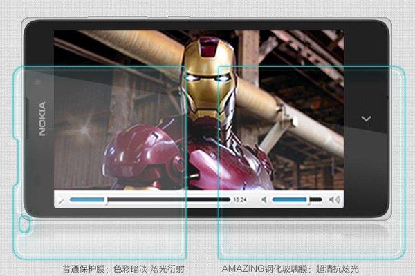 【ネコポス送料無料】NOKIA XL 強化ガラスフィルム ナノコーティング 硬度9H  [3]