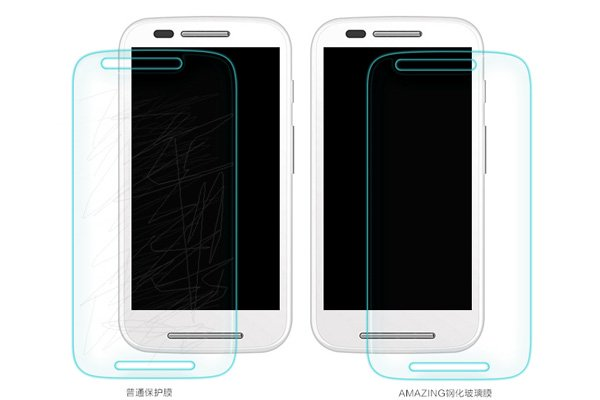 【ネコポス送料無料】Motorola Moto E (XT1022) 強化ガラスフィルム ナノコーティング 硬度9H  [6]