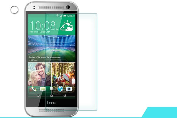 【ネコポス送料無料】HTC One mini2 強化ガラスフィルム ナノコーティング 硬度9H  [1]