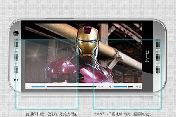 【ネコポス送料無料】HTC One mini2 強化ガラスフィルム ナノコーティング 硬度9H  [4]