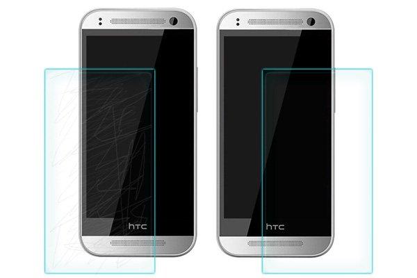 【ネコポス送料無料】HTC One mini2 強化ガラスフィルム ナノコーティング 硬度9H  [6]