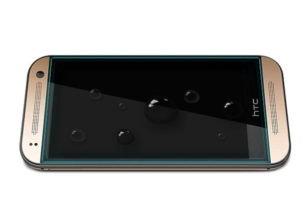 【ネコポス送料無料】HTC One mini2 強化ガラスフィルム ナノコーティング 硬度9H  [7]