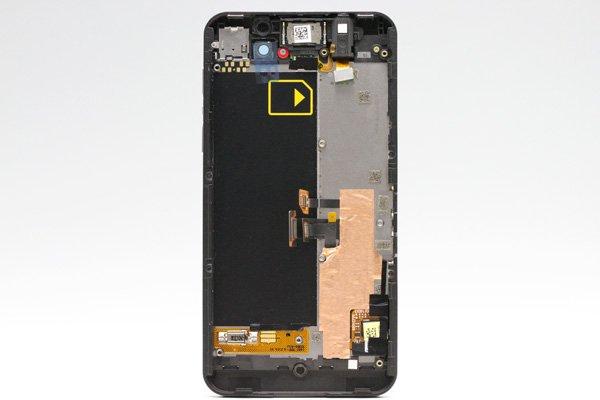 Blackberry Z10 3G版 フロントパネルASSY ブラック [2]