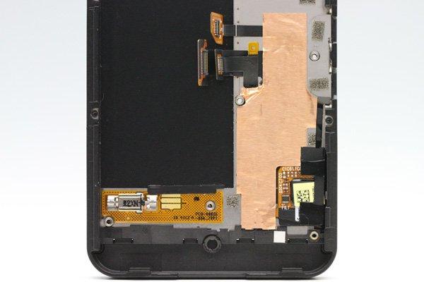 Blackberry Z10 3G版 フロントパネルASSY ブラック [4]