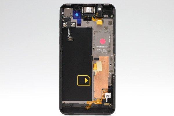 Blackberry Z10 4G(LTE)版 フロントパネルASSY ブラック [2]