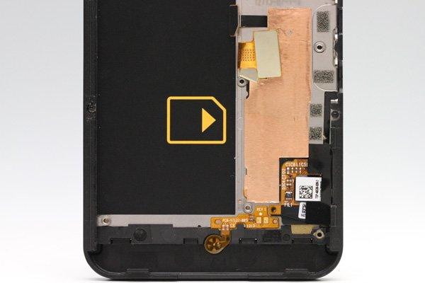 Blackberry Z10 4G(LTE)版 フロントパネルASSY ブラック [4]