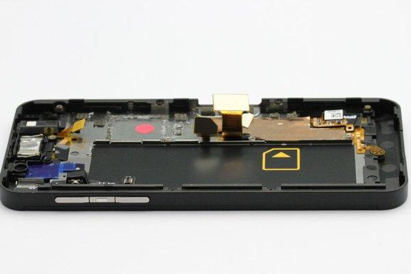 Blackberry Z10 4G(LTE)版 フロントパネルASSY ブラック [5]