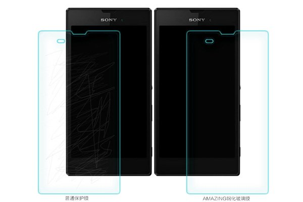 【ネコポス送料無料】Xperia T3 (D5103) 強化ガラスフィルム ナノコーティング 硬度9H  [6]