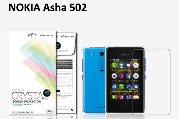 【ネコポス送料無料】Nokia Asha 502 液晶保護フィルムセット クリスタルクリアタイプ  [1]