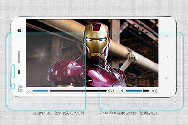 【ネコポス送料無料】Xiaomi (小米) Mi4 強化ガラスフィルム ナノコーティング 硬度9H  [4]