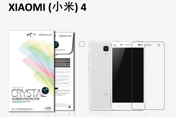 【ネコポス送料無料】Xiaomi (小米) Mi4 液晶保護フィルムセット クリスタルクリアタイプ  [1]