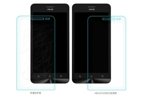 【ネコポス送料無料】ASUS Zenfone4 強化ガラスフィルム ナノコーティング 硬度9H  [6]