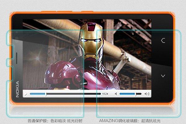 【ネコポス送料無料】NOKIA X2 強化ガラスフィルム ナノコーティング 硬度9H  [3]