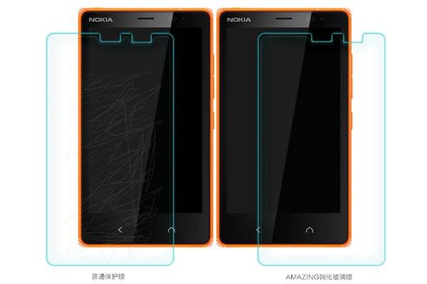 【ネコポス送料無料】NOKIA X2 強化ガラスフィルム ナノコーティング 硬度9H  [6]