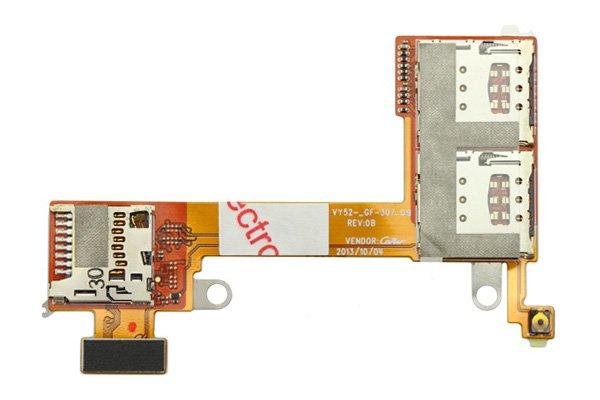 【ネコポス送料無料】Xperia M2 Dual (D2302) SIMカードスロットケーブルASSY  [1]