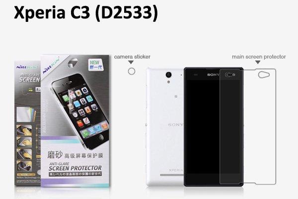 【ネコポス送料無料】Xperia C3 (D2533) 液晶保護フィルムセット アンチグレアタイプ  [1]