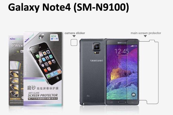 【ネコポス送料無料】Galaxy Note4 (SM-N9100) 液晶保護フィルムセット アンチグレア  [1]