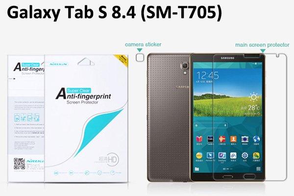 【ネコポス送料無料】Galaxy Tab S 8.4 (SM-T705) 液晶保護フィルムセット クリスタルクリア