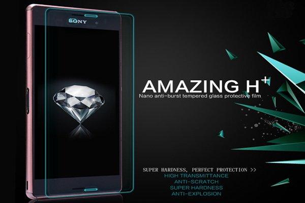 【ネコポス送料無料】Xperia Z3 (D6653) 強化ガラスフィルム ナノコーティング 硬度9H  [2]