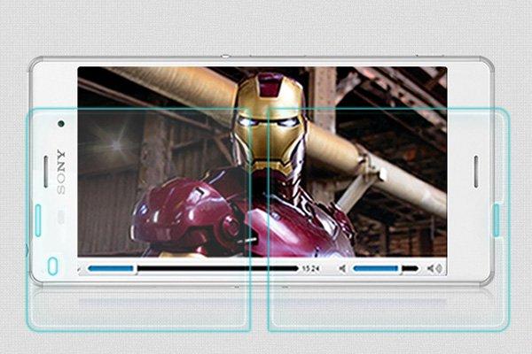 【ネコポス送料無料】Xperia Z3 (D6653) 強化ガラスフィルム ナノコーティング 硬度9H  [4]