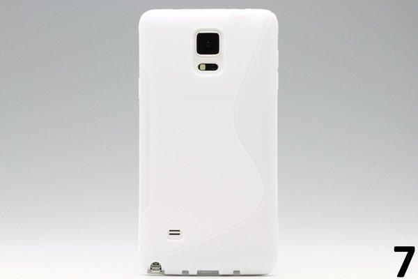 【ネコポス送料無料】Galaxy Note4 (SM-N910)TPUケース 液晶保護フィルム付き 全8色  [13]