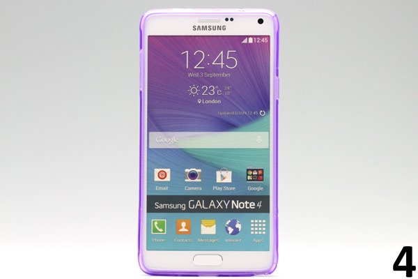 【ネコポス送料無料】Galaxy Note4 (SM-N910)TPUケース 液晶保護フィルム付き 全8色  [8]