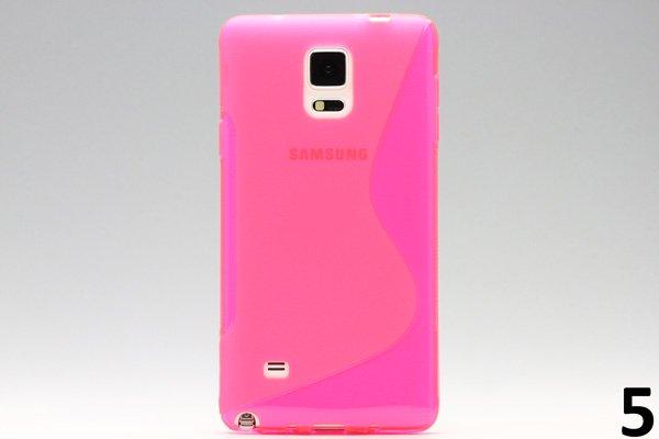 【ネコポス送料無料】Galaxy Note4 (SM-N910)TPUケース 液晶保護フィルム付き 全8色  [9]
