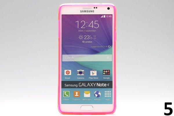 【ネコポス送料無料】Galaxy Note4 (SM-N910)TPUケース 液晶保護フィルム付き 全8色  [10]