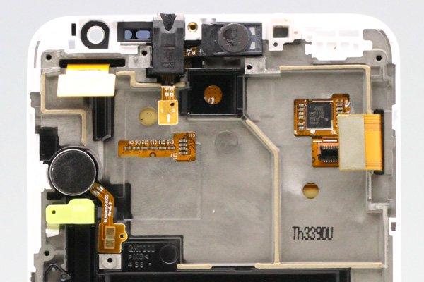 SAMSUNG Galaxy Note (GT-N7000) フロントパネルASSY ホワイト  [4]