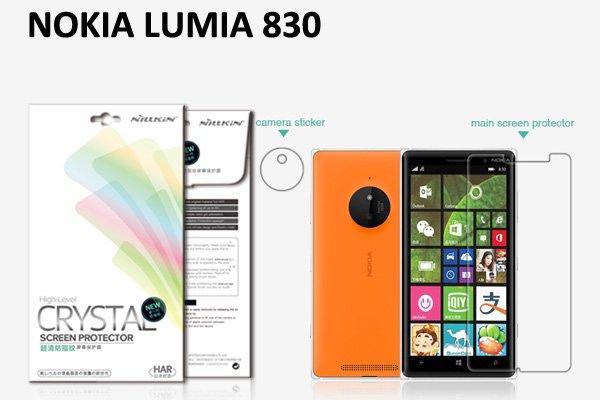 【ネコポス送料無料】NOKIA LUMIA830 液晶保護フィルムセット クリスタルクリアタイプ  [1]
