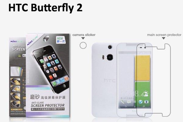 【ネコポス送料無料】HTC Butterfly2 液晶保護フィルムセット アンチグレアタイプ  [1]