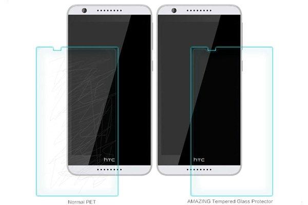 【ネコポス送料無料】HTC Desire820 強化ガラスフィルム ナノコーティング 硬度9H  [6]