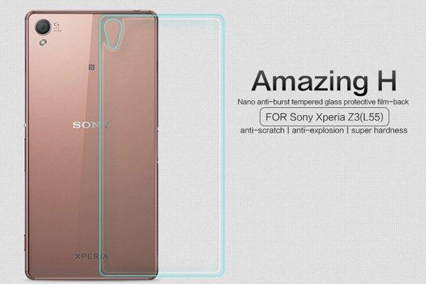 【ネコポス送料無料】Xperia Z3 (D6653) 背面用強化ガラスフィルム ナノコーティング 硬度9H  [3]