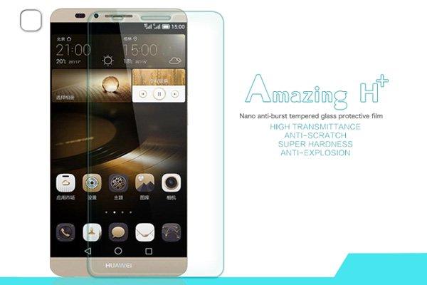 【ネコポス送料無料】Huawei Ascend Mate7 強化ガラスフィルム ナノコーティング 硬度9H  [1]