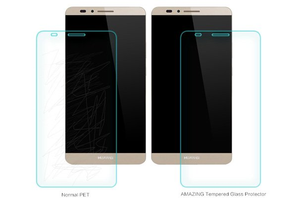 【ネコポス送料無料】Huawei Ascend Mate7 強化ガラスフィルム ナノコーティング 硬度9H  [4]