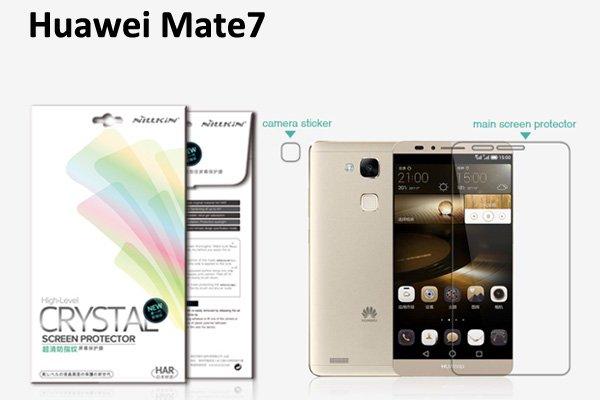 【ネコポス送料無料】Huawei Ascend Mate7 液晶保護フィルムセット クリスタルクリアタイプ  [1]