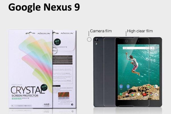 【ネコポス送料無料】Google Nexus9 液晶保護フィルムセット クリスタルクリアタイプ  [1]