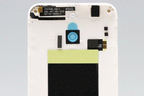 【ネコポス送料無料】HTC One (E8) バックカバー ホワイト  [4]