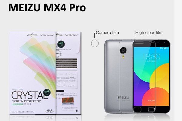 【ネコポス送料無料】MEIZU (魅族) MX4 Pro用 液晶保護フィルムセット クリスタルクリアタイプ  [1]