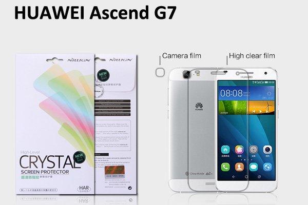 【ネコポス送料無料】Huawei Ascend G7 液晶保護フィルムセット クリスタルクリアタイプ  [1]