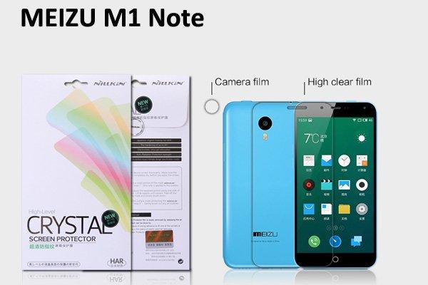 【ネコポス送料無料】MEIZU (魅族) M1 Note用 液晶保護フィルムセット クリスタルクリアタイプ  [1]