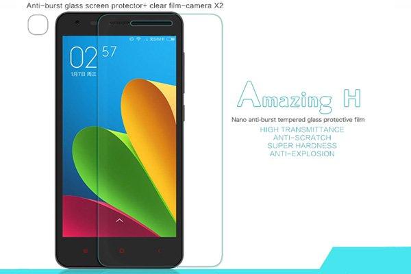 【ネコポス送料無料】Xiaomi (小米) 紅米2 Redmi2 強化ガラスフィルム ナノコーティング 硬度9H  [1]