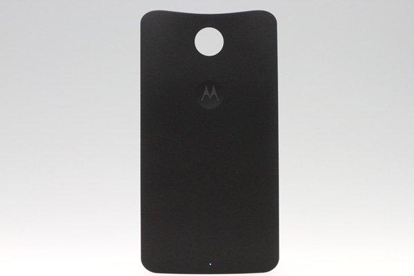 【ネコポス送料無料】Nexus6 バックカバー ロゴなし ブラック  [1]
