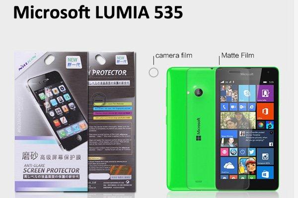 【ネコポス送料無料】Microsoft LUMIA535 液晶保護フィルムセット アンチグレアタイプ  [1]