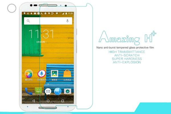 【ネコポス送料無料】Motorola Moto X (2nd Gen) 強化ガラスフィルム ナノコーティング 硬度9H  [1]