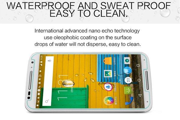 【ネコポス送料無料】Motorola Moto X (2nd Gen) 強化ガラスフィルム ナノコーティング 硬度9H  [5]