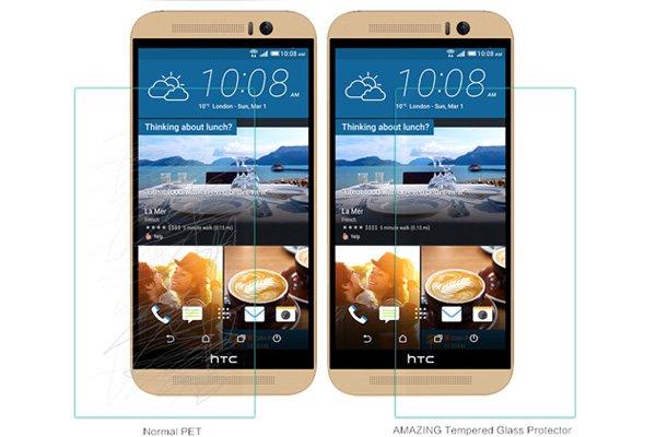 【ネコポス送料無料】HTC One (M9) 強化ガラスフィルム ナノコーティング 硬度9H  [4]