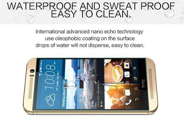 【ネコポス送料無料】HTC One (M9) 強化ガラスフィルム ナノコーティング 硬度9H  [5]