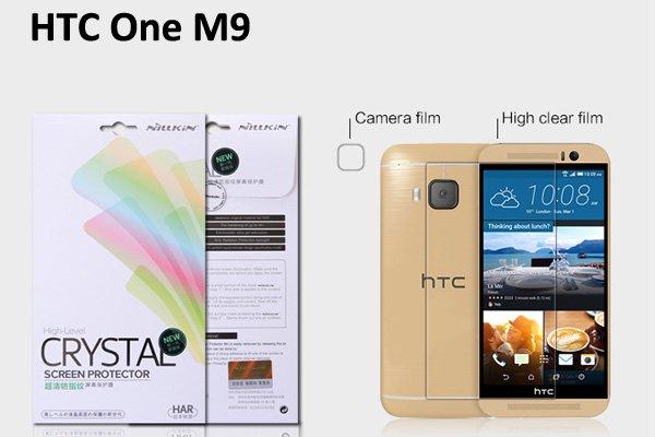 【ネコポス送料無料】HTC One  (M9) 液晶保護フィルムセット クリスタルクリアタイプ  [1]