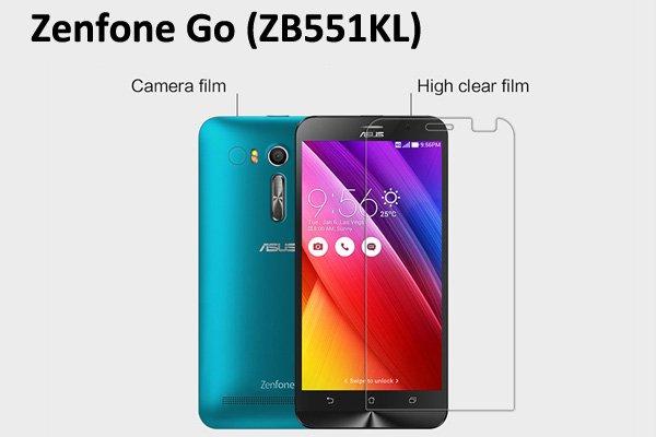 【ネコポス送料無料】Zenfone Go (ZB551KL) 液晶保護フィルムセット クリスタルクリアタイプ  [1]
